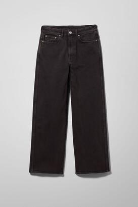 Weekday Veer High Wide Jeans - Black