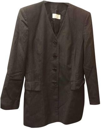 Basile Grey Wool Jacket for Women