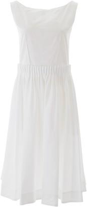Marni Pleated Buttoned Midi Dress