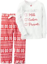 Carter's Santa's Checklist PJ Set (Toddler/Kid) - Print - 2T