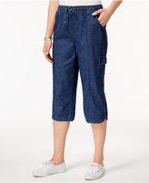 Karen Scott Edna Cotton Capri Jeans, Created for Macy's