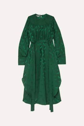 Stella McCartney + Net Sustain Belted Jacquard Dress - Green