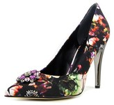 G by Guess Becky Women Pointed Toe Canvas Multi Color Heels.