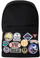 Topman Men's Canvas Backpack With Patches - Black