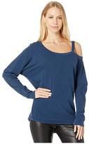 LAmade Roselyn Long Sleeve Top in Vintage Sand Wash Jersey (Dark Night) Women's Clothing