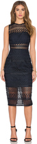 Nicholas Braided Lace Fitted Bandeau Dress