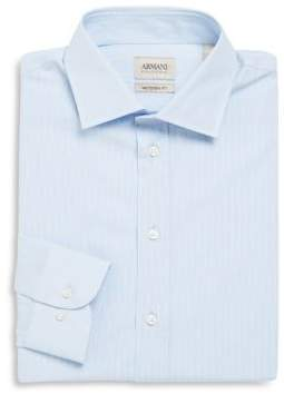 Armani Collezioni Modern Fit Micro Striped Dress Shirt