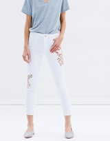 Miss Selfridge Embroidered Lizzie Jeans