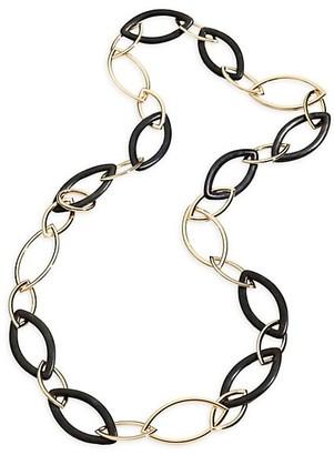 Vhernier Pop 18K Rose Gold & Ebony Long Chain Necklace