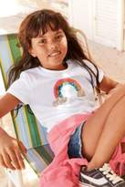 Next Girls White Sequin Rainbow Short Sleeve T-Shirt (3-16yrs)