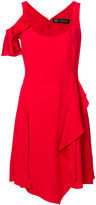 Versace asymmetric ruffle dress