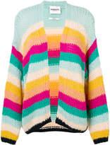 Essentiel Antwerp knit rainbow striped cardigan