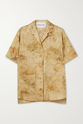 ANDERSSON BELL Sunny Tie-dyed Crepe De Chine Shirt - Yellow