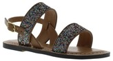 Sam & Libby Girls' Nora Two Piece Glitter Quarter Strap Sandals - Assorted Colors