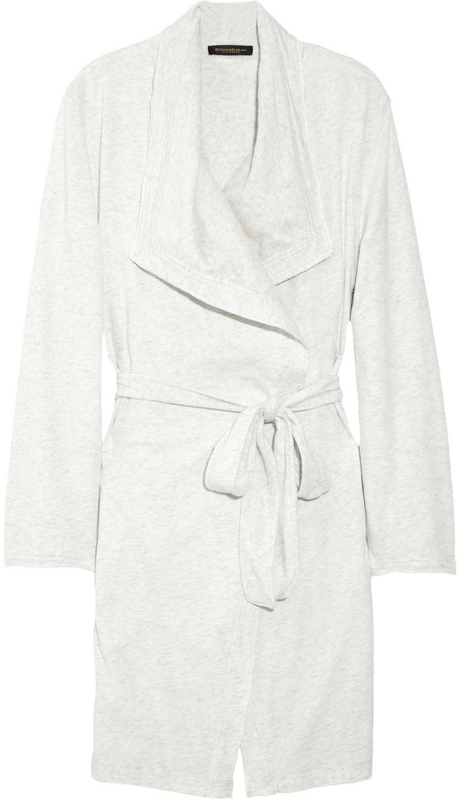 Donna Karan Sleepwear Cotton-jersey robe