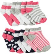 "Luvable Friends Baby Girls' ""Pattern Varieties"" 6-Pack Socks"