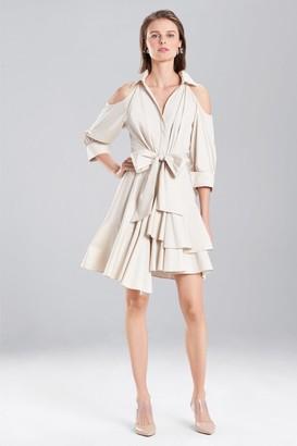 Natori Coated Cotton Cold Shoulder Dress