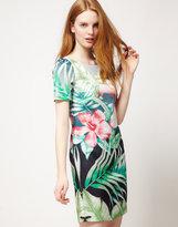 Placement Palm Print Dress