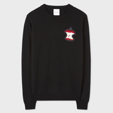Paul Smith Women's Black Cashmere Sweater With Embellished 'Apple'