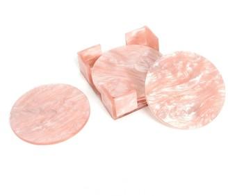 Edie Parker Rose Quartz Coaster Set