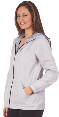 Fleet Street Women's Hooded Mesh Water-Resistant Jacket