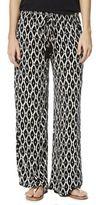F&F Ikat Print Crinkle Wide Leg Beach Trousers, Women's