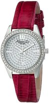 "Kenneth Cole New York Women's KC2843 ""Classic"" Crystal-Accented Stainless Steel Watch with Red Leather Band"