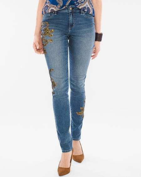 Platinum Gold Leaf Jeggings