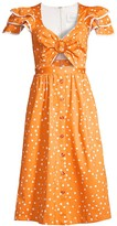 Serengeti Azulu Polka Dot Cutout Dress