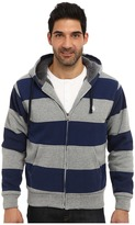 U.S. Polo Assn. Sherpa Lined Rugby Stripe Full Zip Hoodie
