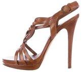 Casadei Braided Platform Sandals