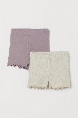 H&M 2-pack Ribbed Shorts