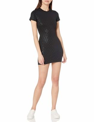 True Religion Women's Short Sleeve Crewneck Bodycon Dress