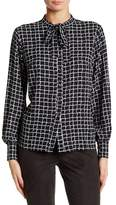 Insight Jaguar Tie Neck Blouse