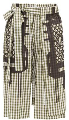 Craig Green Gingham-check Cotton-poplin Shorts - Mens - Black Green