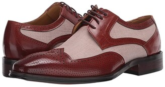 Stacy Adams Harrison Wing Tip Oxford (Cognac/Beige) Men's Shoes