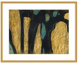 PTM Images Golden Blue Shapes II (Shadow Box Frame)