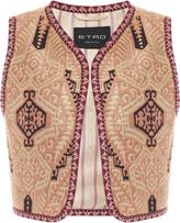 Etro Cropped Jacquard Vest