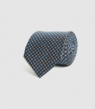 Reiss MICHEL SILK MEDALLION TIE Navy