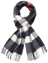 Burberry Large Classic Check Cashmere Long Scarf