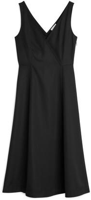 Arket A-Line Fluid Twill Dress