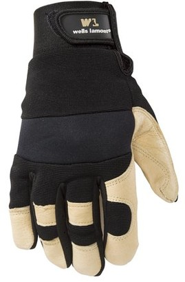Wells Lamont Men's Leather Work Gloves with Heavy Duty Leather Palm, X-Large