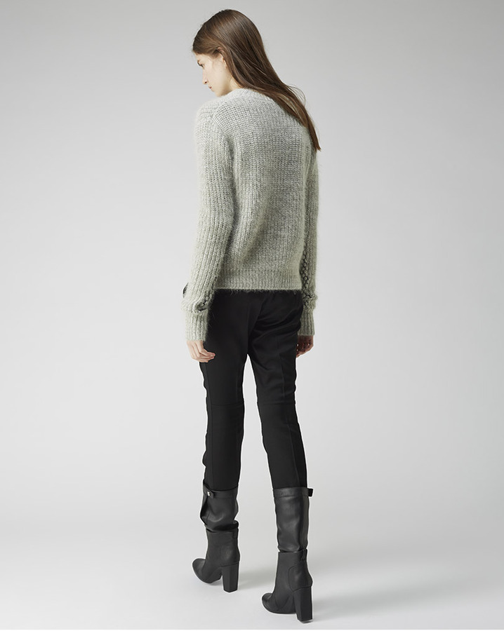 3.1 Phillip Lim cropped mixed stitch pullover