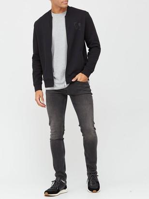Armani Exchange Sweat Bomber Jacket - Black