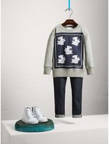 Burberry Beasts Print Cotton Sweatshirt