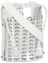 Paco Rabanne metal trim cross-body bag - women - Calf Leather/metal - One Size