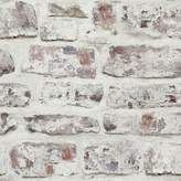 Trent Austin Design Alvara Whitewashed Wall White 33.5' x 22 Brick Wallpaper