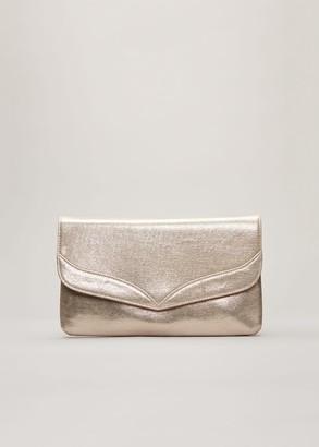 Phase Eight Caitlin Metallic Clutch Bag