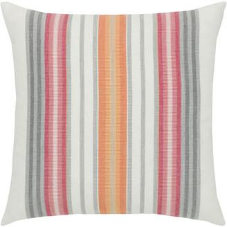 Elaine Smith Stripe Sunbrella Pillow, Orange