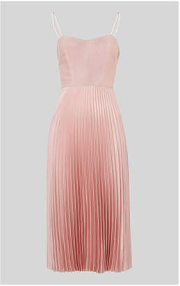 Whistles Satin Pleated Strappy Dress